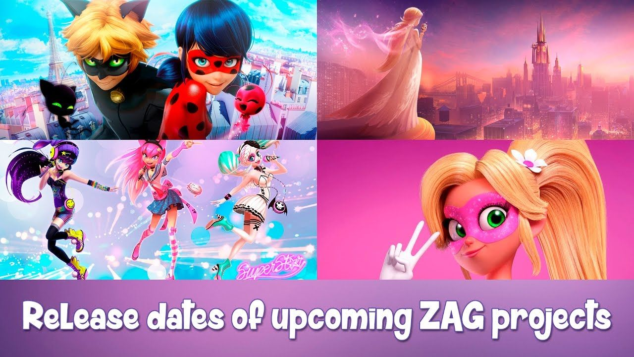 Release dates of new ZAG projects Miraculous Ladybug 2 and