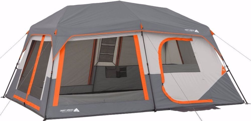 10 person instant cabin tent with lights