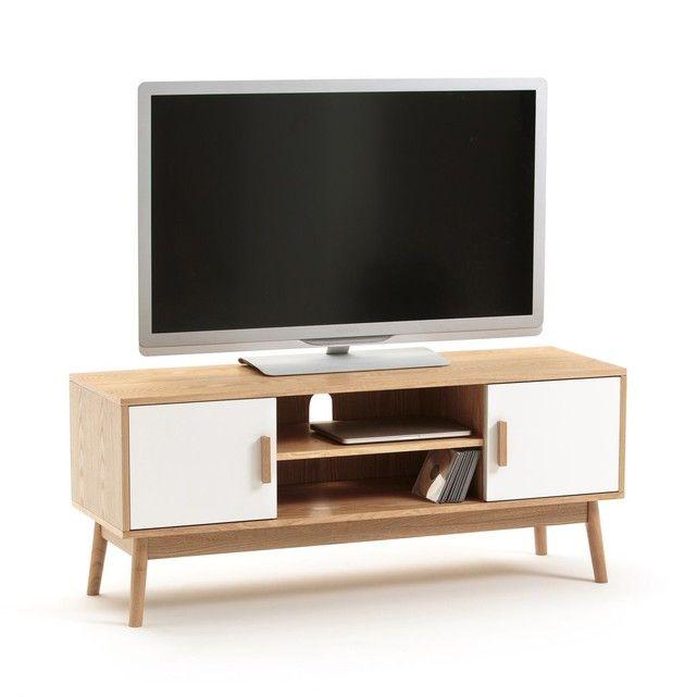 Meuble TV, 2 portes, 1 niche, SHELDON Salons and Consoles