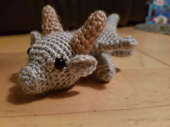 Amigurumi Baby Dragon : Crochet toy baby rattles amigurumi from bymarika on etsy
