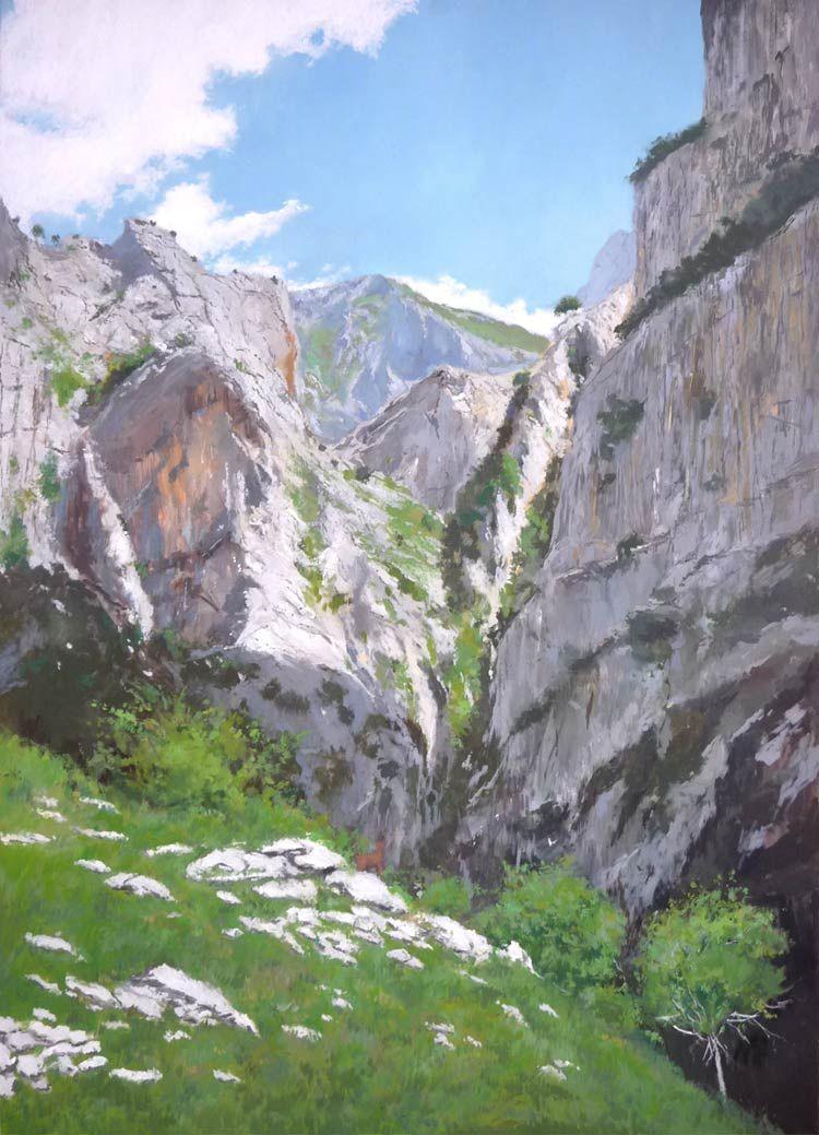 Leo de los picos de europa arte de la pintura pinterest - Pintores en asturias ...