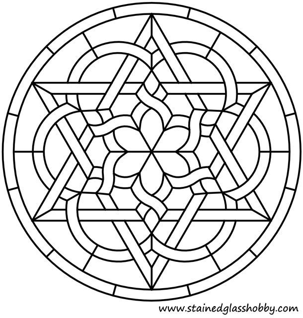 Celtic mosaic coloring pages ~ celtic round stained glass panel - Google Search | colour ...