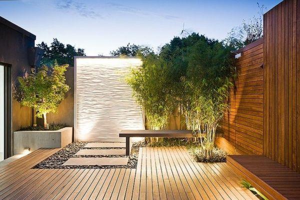 Charmant Außenarchitektur Gartengestaltung Modern Bäume Holzboden Dekoration |  สวนสวย | Pinterest | Gardens, Patios And Garten