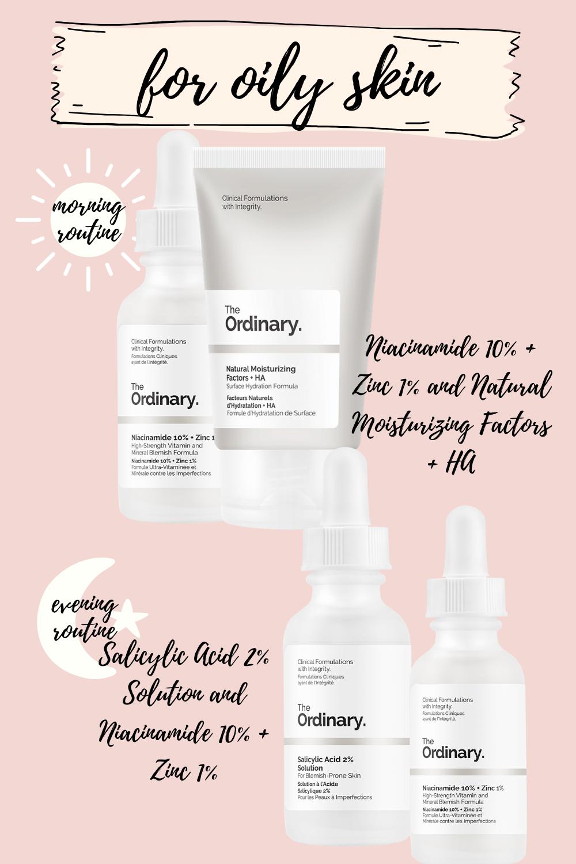 the ordinary skincare routine for oily skin body care
