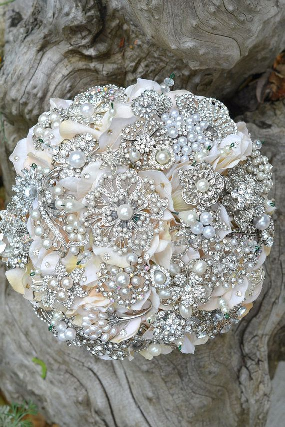 Deposit On Rich Pearl Brooch Bouquet Made To Order Wedding