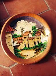 Resultado de imagen para como pintar sobre barro pintura greda platos navide os platos - Pintar tejas de barro ...