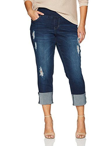 more photos 87871 5211d Women's Plus Size Lewis Straight Cuffed Pull on Jean in ...
