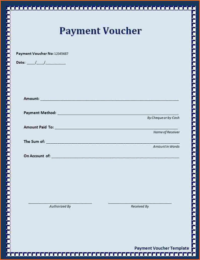 Attractive Click On The Download Button To Get This Payment Voucher Template. In Loan Payment Coupon Template
