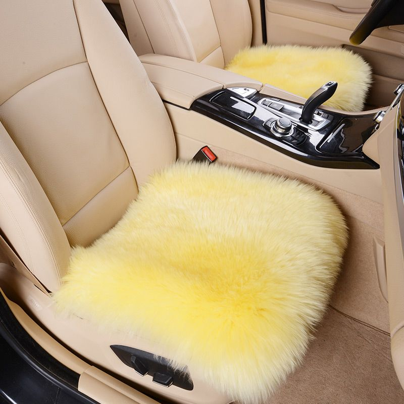 BigAnt Car Wool Cushion /Car Seat Cover Plush Seat Pad Accessories ...