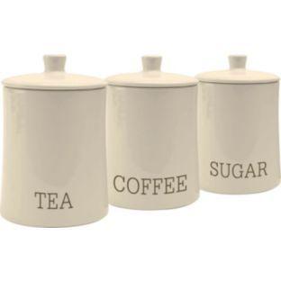 Buy New York Ceramic Tea Coffee Sugar Storage Jars Cream