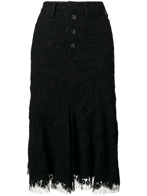 VICTORIA VICTORIA BECKHAM Lace Detail Skirt. #victoriavictoriabeckham #cloth #skirt