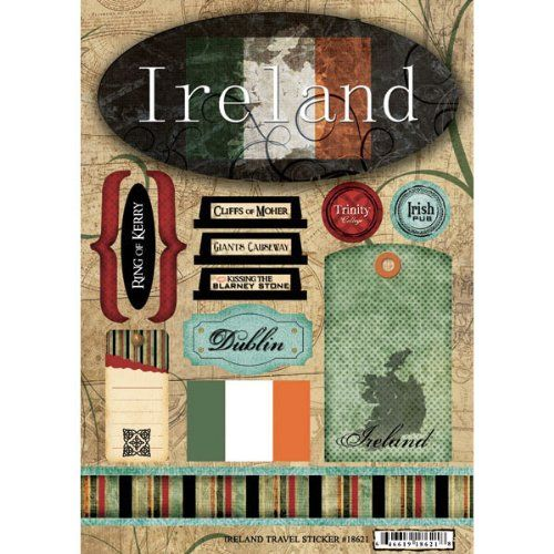 Scrapbook Customs - World Collection - Ireland - Cardstock Stickers - Travel Scrapbook Customs http://smile.amazon.com/dp/B004VSI6LM/ref=cm_sw_r_pi_dp_AHF7tb0JEFRH6