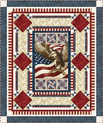 Flight of the Eagle Quilt by Larene Smith of The Quilted Button ... : stars and stripes quilt pattern - Adamdwight.com