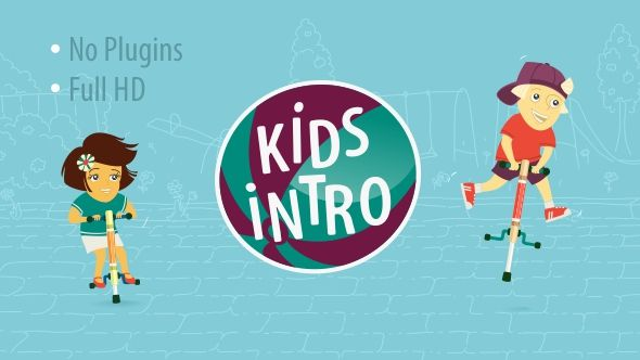 Kids Intro (Cartoons) #Envato #Videohive #aftereffects | After