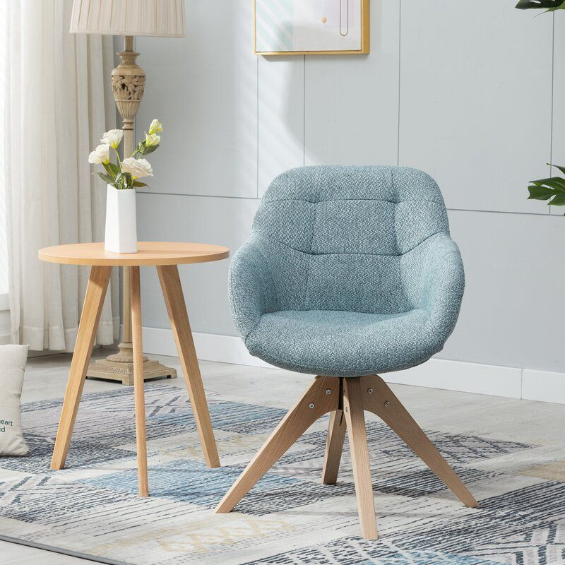 Giacchetto Swivel Armchair Fabric Accent Chair Swivel Armchair Dining Arm Chair