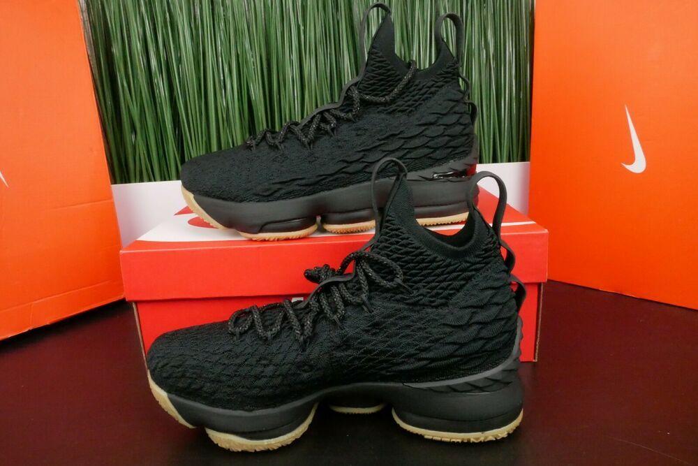 9f0c1cd9cf3 eBay  Sponsored Nike Lebron XV 15 GS Kids Black Gum Basketball Shoes  Sneakers 922811-001 Size 6Y