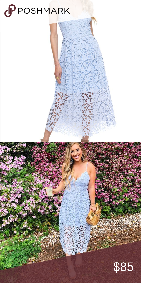 7a25d07477785 ASTR the label lace midi dress ASTR the label lace midi dress in  periwinkle.New without tags. Size small. Any questions please ask. Astr  Dresses Midi