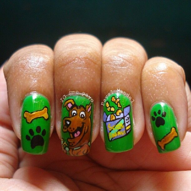 Scooby doo nails different background color though scooby ink361 the instagram web interface voltagebd Gallery