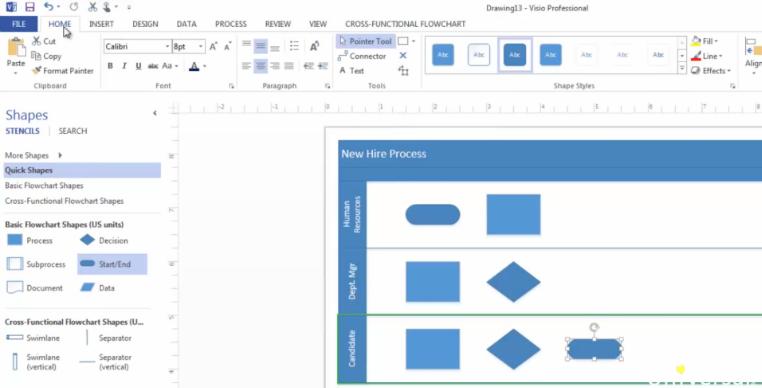 Creating Flowcharts And Organization Charts In Microsoft Visio 2013 Mso Exchange Organization Chart Microsoft Visio Flow Chart