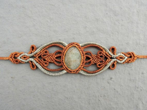 Hey, I found this really awesome Etsy listing at https://www.etsy.com/listing/231586649/aquamarine-macrame-bracelet-beige-and