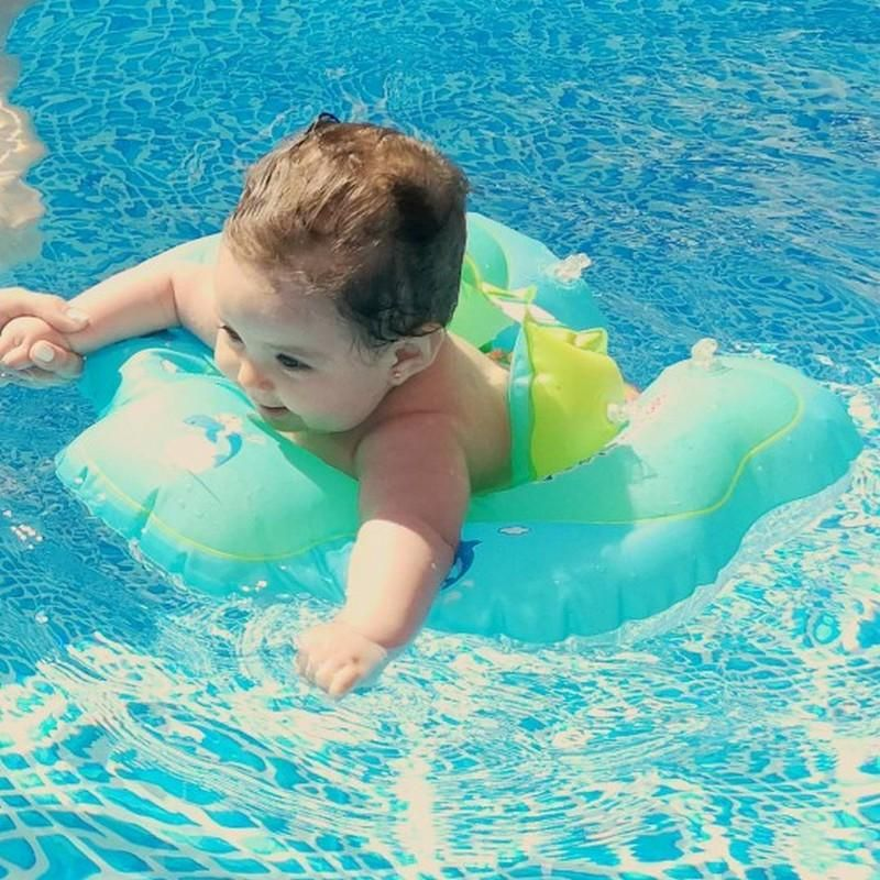 Green Inflatable Pool Float Baby Swim Float Baby Swimming Baby Float