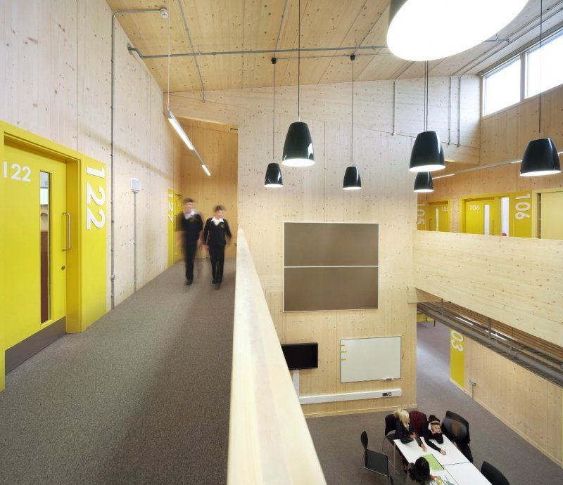 Room numbers waingels college sheppard robson - Interior design for school buildings ...