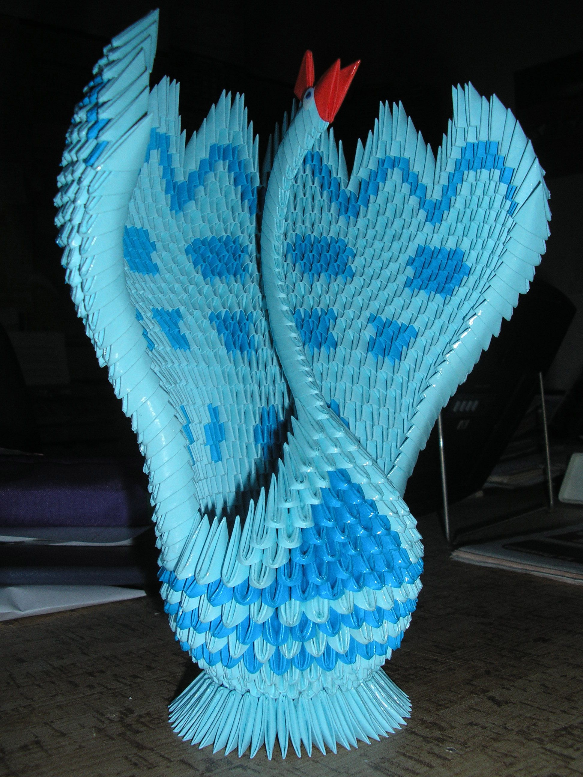 Origami 3D - Peacock | Origami | Pinterest - photo#8