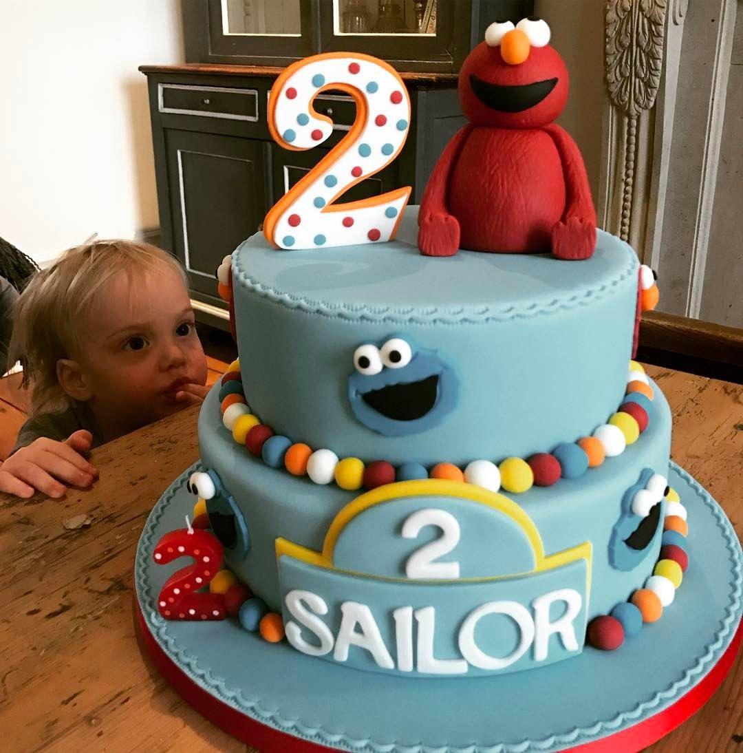 Two year old sesame street cake Sesame street cake, 2