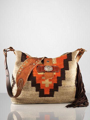 Printed Blanket Hobo Bag - Ralph Lauren Handbags Handbags - RalphLauren.com a0352a7f3a839