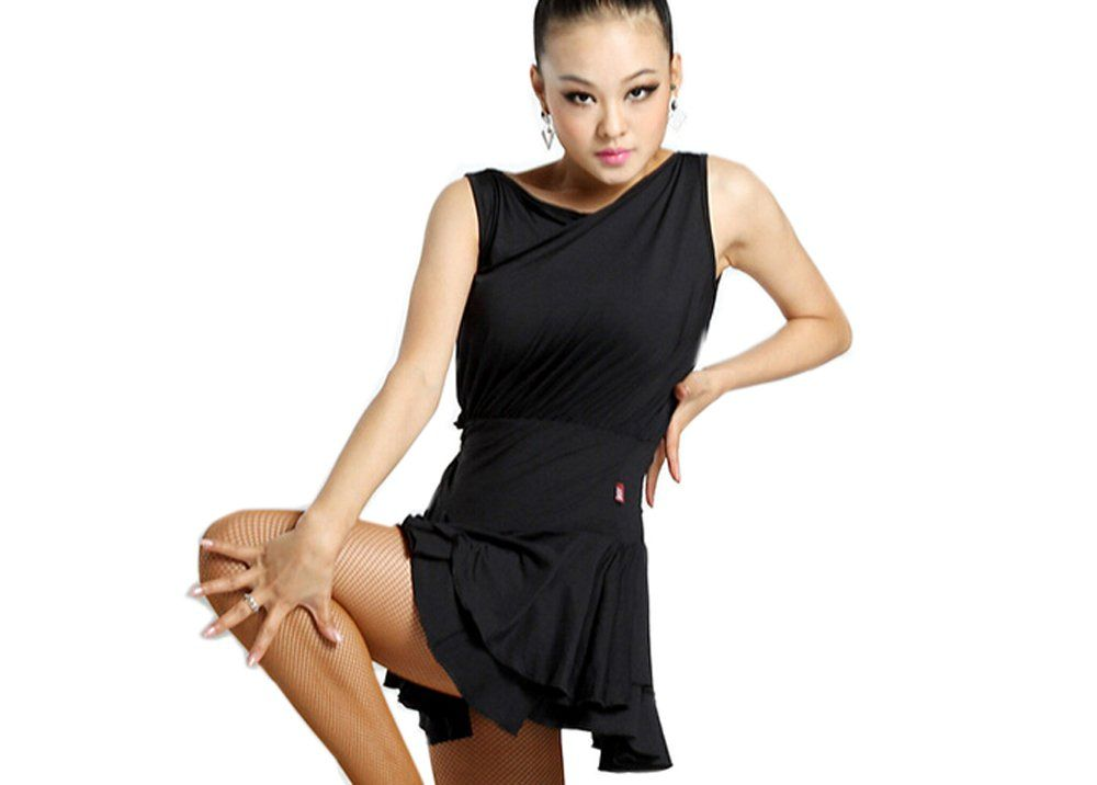 b54bab9d6bd2 Motony Women Latin Dance Dress New Style Latin Dance Costume Adult Dance  Practice Clothes Performance Skirt Black M * Inspect this incredible  product by ...