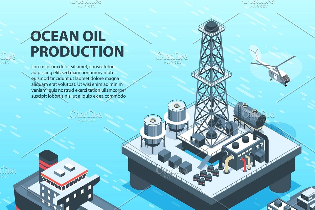 Oil Gas Industry Isometric Icons Set In 2020 Gas Industry Oil And Gas Oils