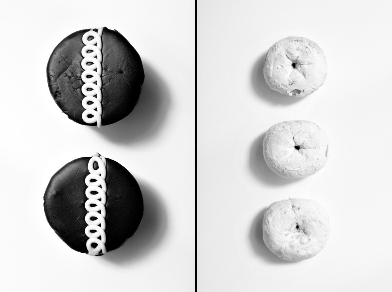 Black And White Food