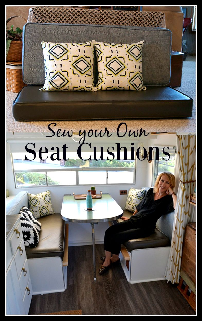 How To Reupholster Your Travel Trailer Cushions In Just Five