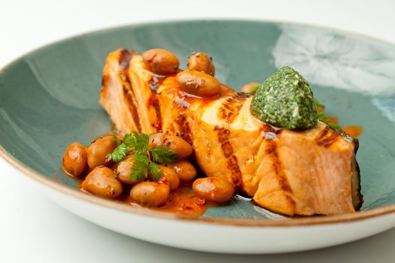 Francesco Mazzei's deceptively simple salmon dish is packed with Italian flavours