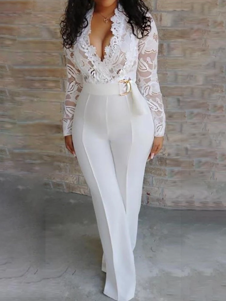 GAGA Womens Playsuits Fashion Floral Bodycon Long-Sleeves Jumpsuits