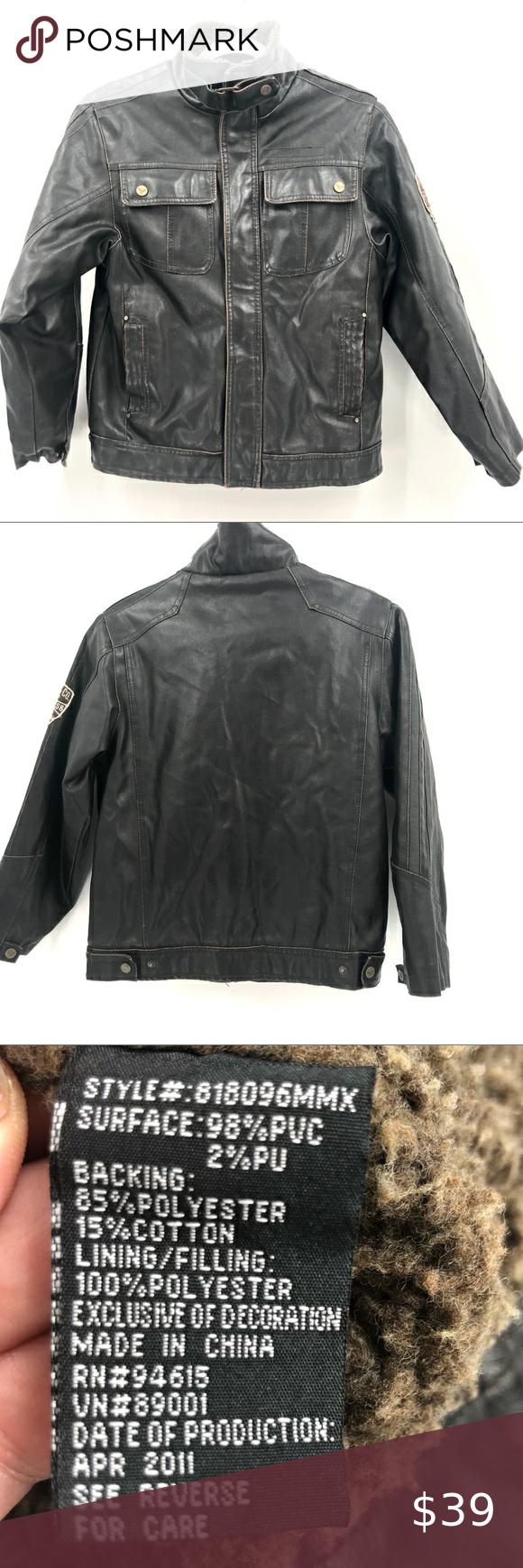 Hawke Co Boys 10 12 Faux Leather Bomber Jacket Faux Leather Bomber Jacket Faux Leather Bomber Leather Bomber Jacket [ 1740 x 580 Pixel ]