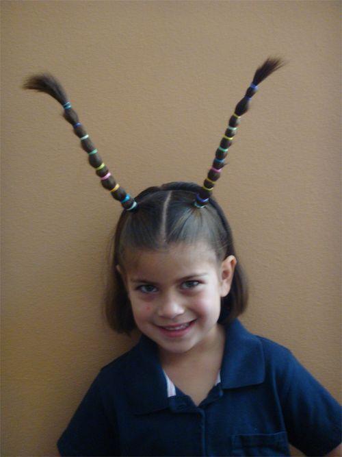 Another crazy hair day idea, Zopfvariante für Karnevalskostüm? Insekt... oder so #crazyhairday Another crazy hair day idea, Zopfvariante für Karnevalskostüm? Insekt... oder so