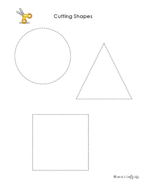 Preschool Activity Pages Practice Using Scissors Language