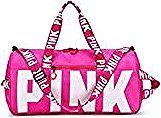 Fitness Travel Sports Bag Women Waterproof Handbag Exercise Travel Bag High Capacity Pink Letter Sho...