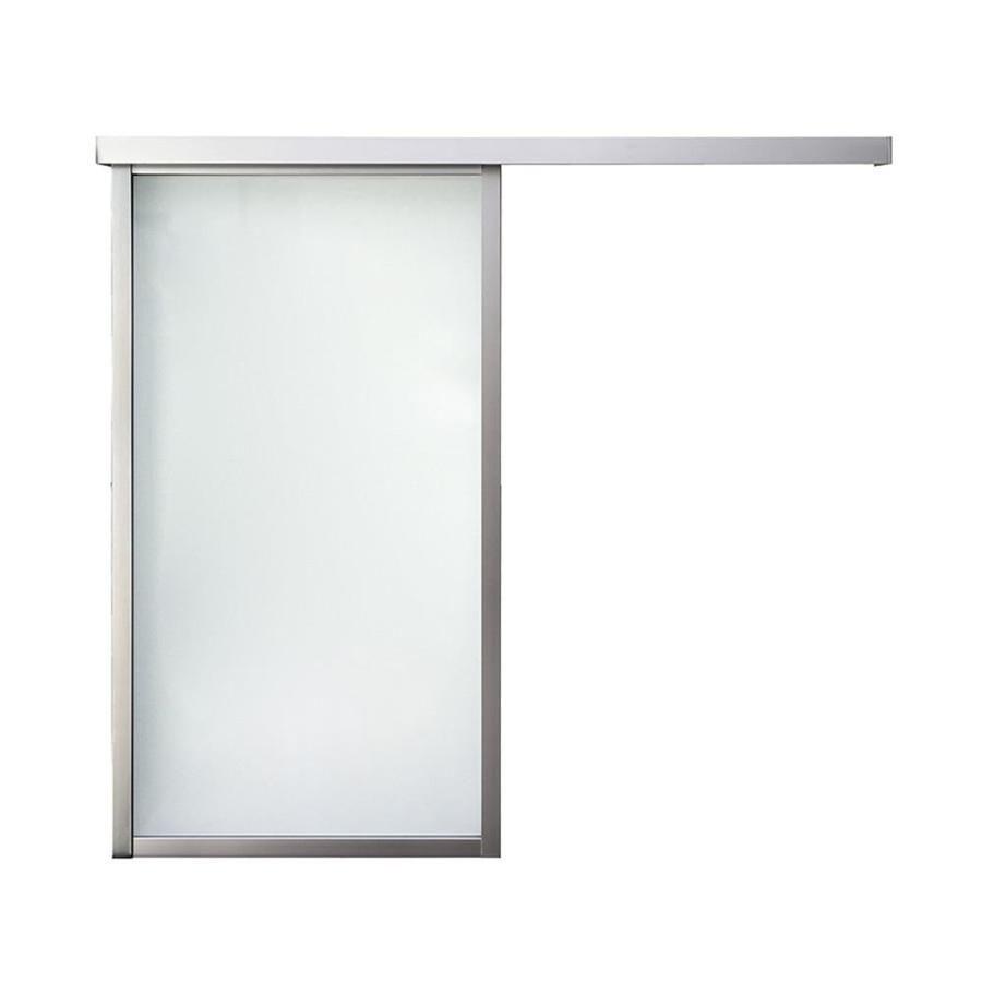 Reliabilt series boston wall slider frosted glass aluminum barn
