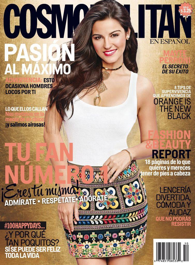 Cosmopolitan En Espanol Back Issue Octubre 2014 Digital Maite Perroni Cosmopolitan Most Beautiful Hollywood Actress