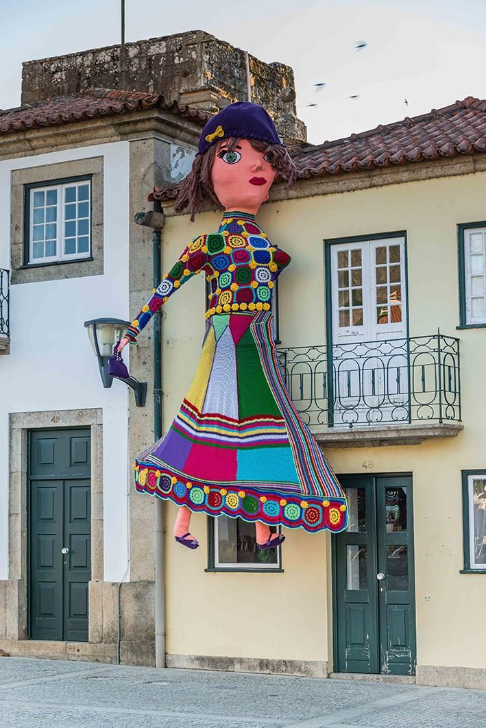Yarn Bombing A Whole Town In Portugal Yarn Bombing Yarn Crochet