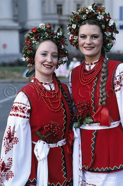 Ukrainian Traditional Clothing Two Young Women In Dress Kiev Ukra Flickr