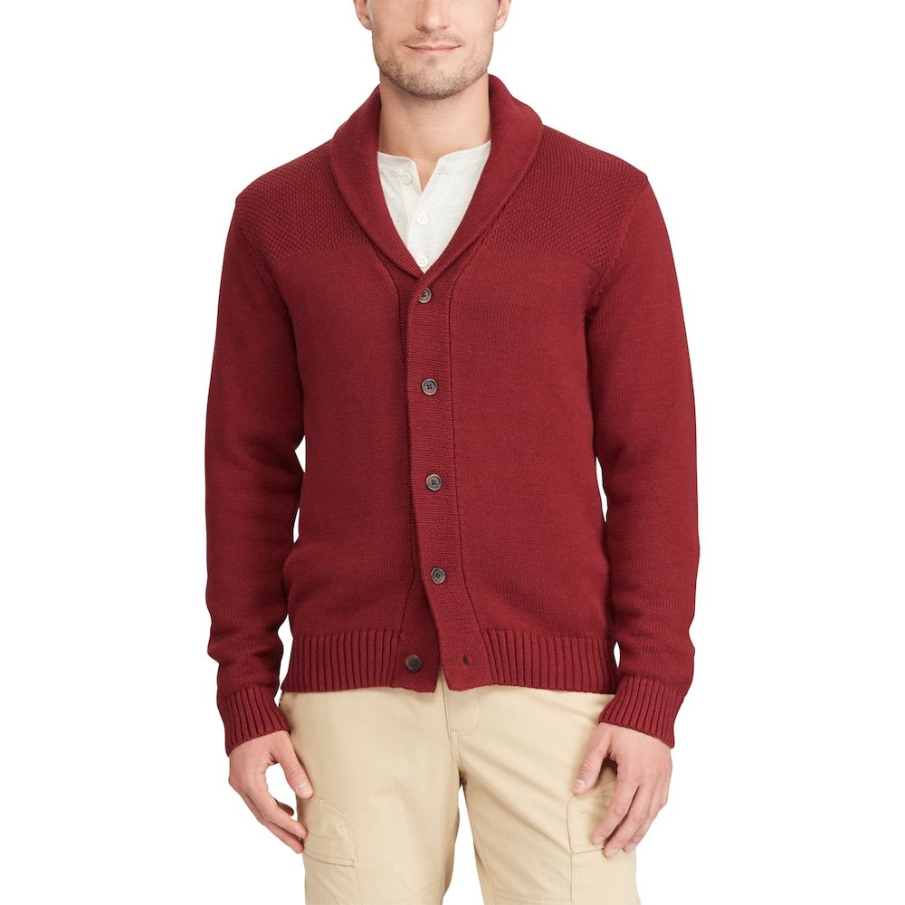 Chaps Men's Classic-Fit Textured Shawl-Collar Cardigan Sweater ...