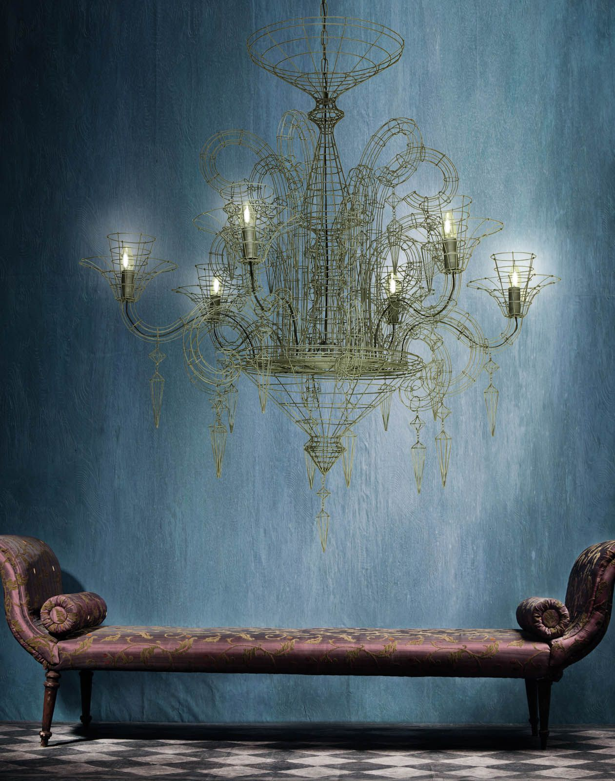 Biju Grand French Wire Chandelier - Pewter - Arik Levy | French ...