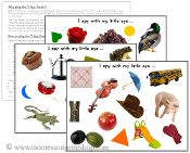 I Spy Games - FREE Printable Montessori Cards by Montessori Print Shop