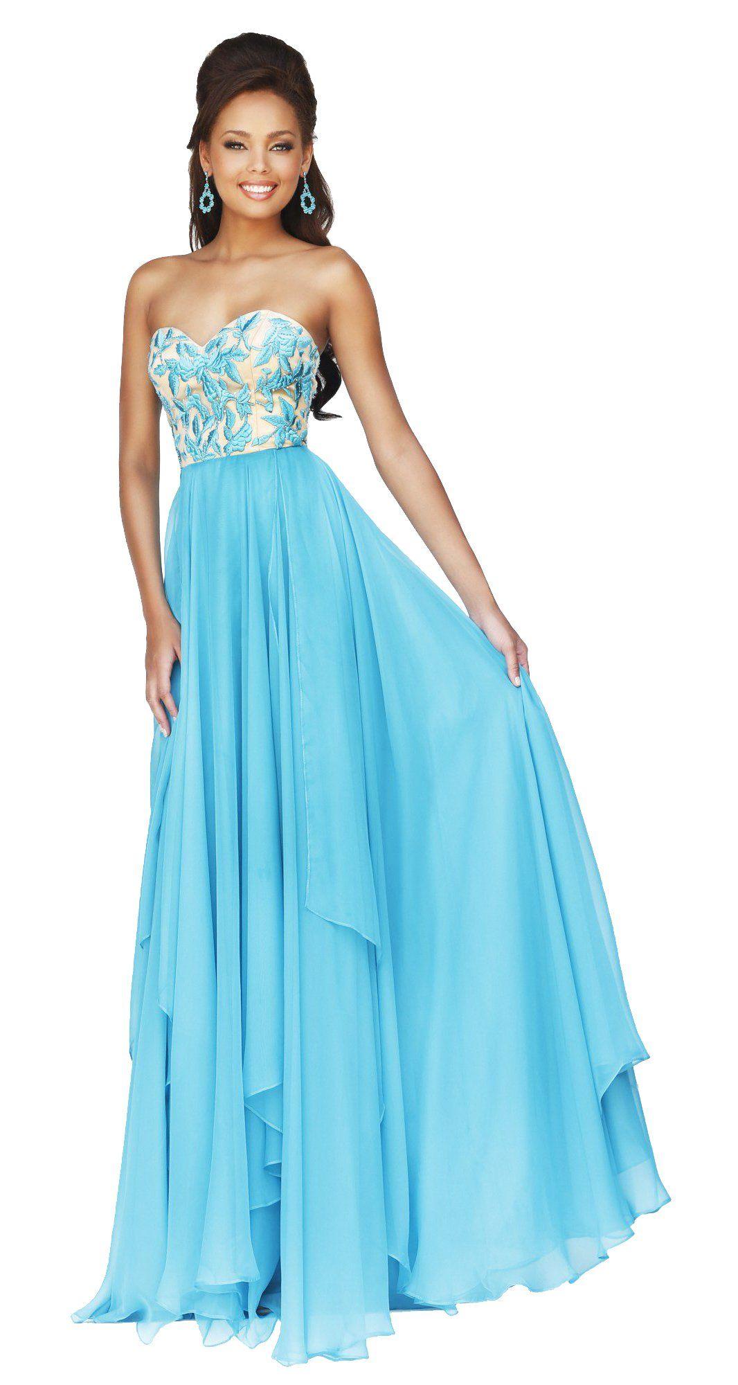 Sherri hill long prom dress turquoise fav dresses