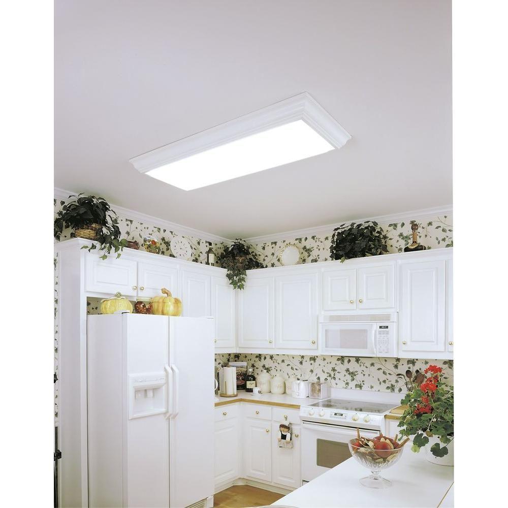 Lithonia Lighting Cambridge 1 2 Ft X 4 Light Wood Fluorescent Ceiling Fixture 3776re The Home Depot