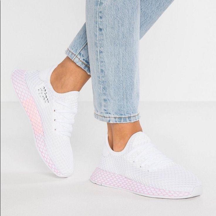 saada uutta valtava myynti Amazon adidas Shoes   Adidas Deerupt Sneakers   Color: Pink/White ...
