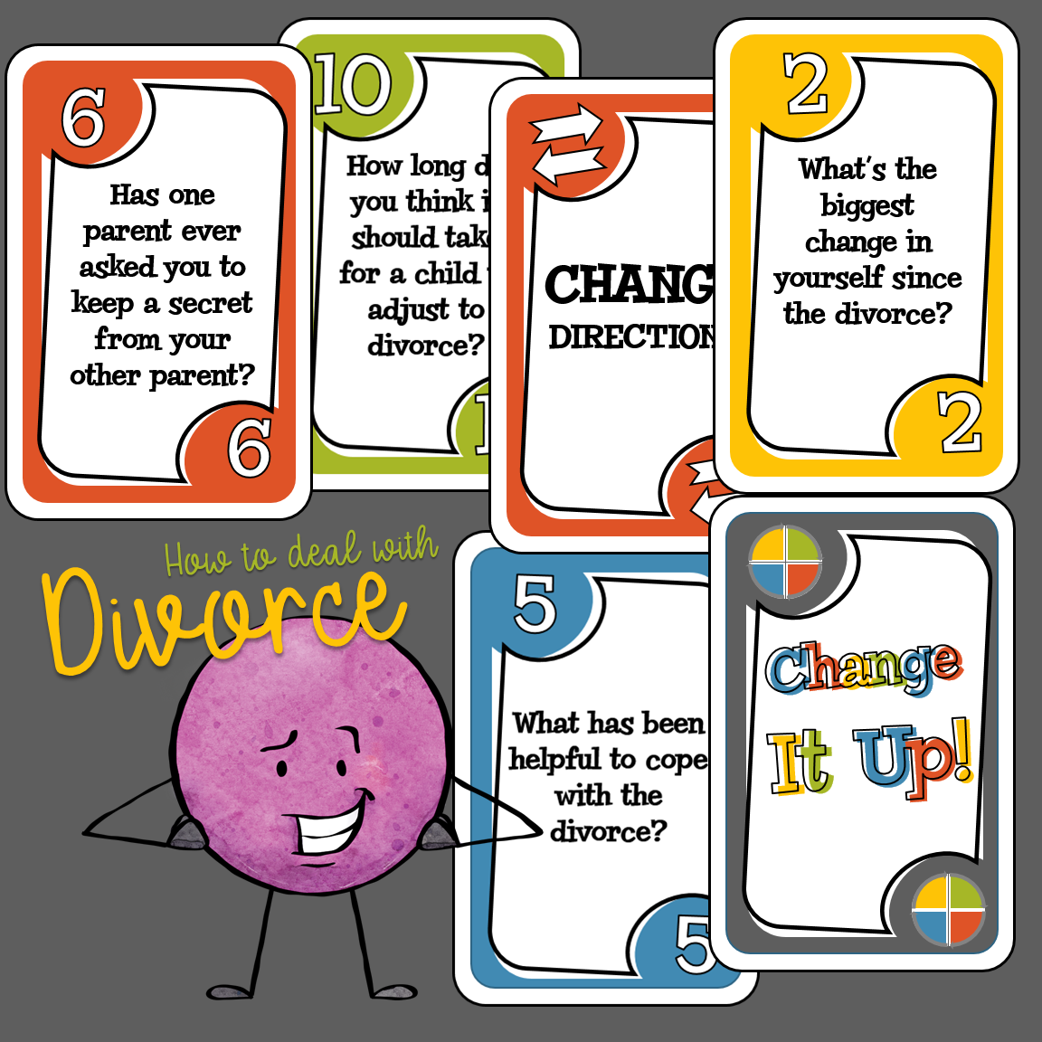 How To Deal With Divorce Therapy Card Game S